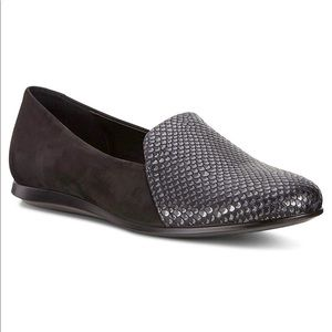 Ecco Touch Ballerina Scale Flats Loafers Suede